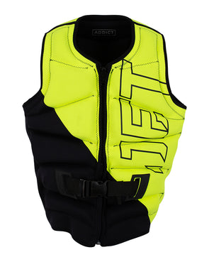 JETPILOT ADDICT REV F/E MENS NEO VEST BLACK/YELLOW LEVEL 50
