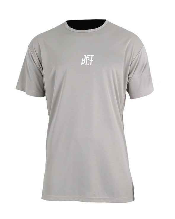 JETPILOT MENS HYPED 2 S/S HYDRO TEE GREY
