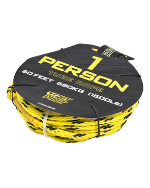 JETPILOT 1 PERSON TUBE ROPE BLACK/YELLOW