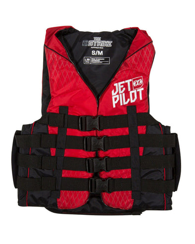 JETPILOT MENS STRIKE F/E NYLON VEST RED LEVEL 50