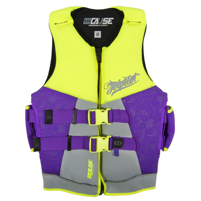 JETPILOT LADIES THE CAUSE LADIES NEO VEST YELLOW LEVEL 50/PURPLE