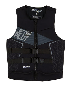 JETPILOT MENS THE CAUSE L50S F/E NEO VEST BLACK/CHARCOAL