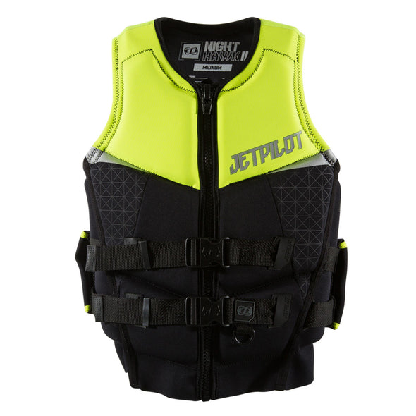 JETPILOT MENS NIGHTHAWK 2 PWC SEG NEO VEST YELLOW LEVEL 50