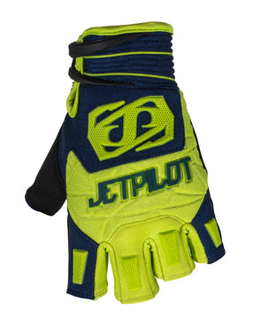 JETPILOT MATRIX SHORT FINGER RACE GLOVE BLUE/LIME