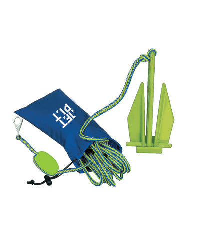 JETPILOT LIGHTWEIGHT FLUKE ANCHOR BLUE/LIME