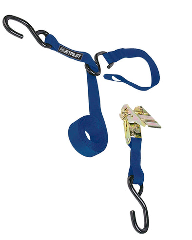 JETPILOT TRIPLE HOOK RATCHET TIE DOWN BLUE