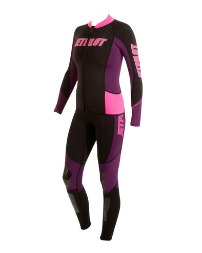 JETPILOT ELITE 2MM LADIES JANE & JACKET BLACK/PINK