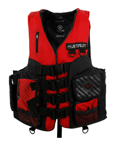 JETPILOT MENS VENTURE PWC NYLON VEST RED LEVEL 50