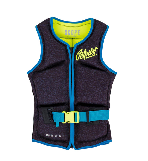 JETPILOT SCOPE REV LADIES NEO VEST BLACK/YELLOW LEVEL 50