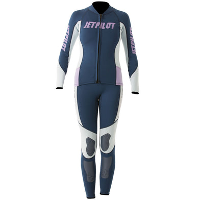 JETPILOT LADIES ELITE 2MM LADIES JANE/JACKET NAVY/BLUE/PINK
