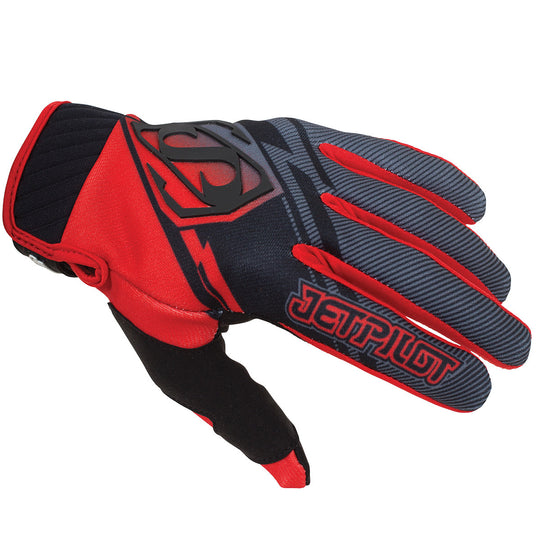 JETPILOT PHANTOM SUPER LITE GLOVE BLACK/RED