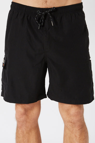 JETPILOT ELASTICATED MENS SHORT BLACK