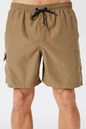 JETPILOT ELASTICATED MENS SHORT KHAKI