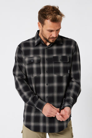 JETPILOT JP MENS FLANNEL SHIRT BLACK