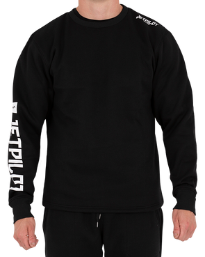 JETPILOT BRIGHT SPARK MENS L/S TEE BLACK