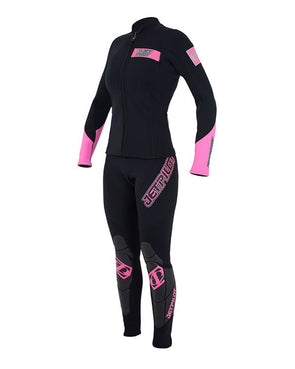JETPILOT MATRIX LADIES JANE AND JACKET BLACK/PINK