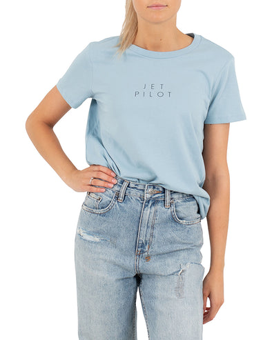 JETPILOT FINE LINE LADIES TEE POWDER BLUE
