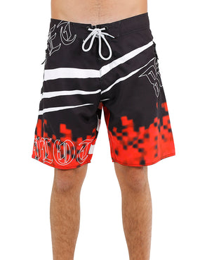JETPILOT INCISION MENS BOARDSHORT BLACK/RED