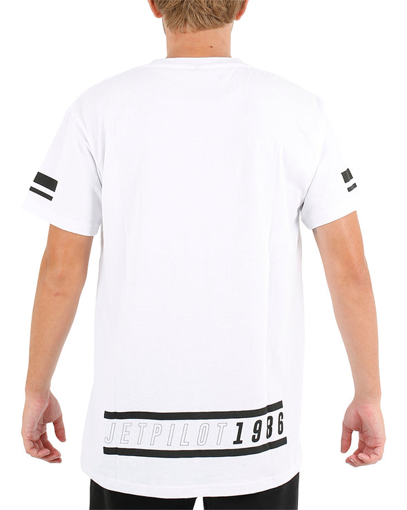 JETPILOT STRATEGY MENS TEE WHITE
