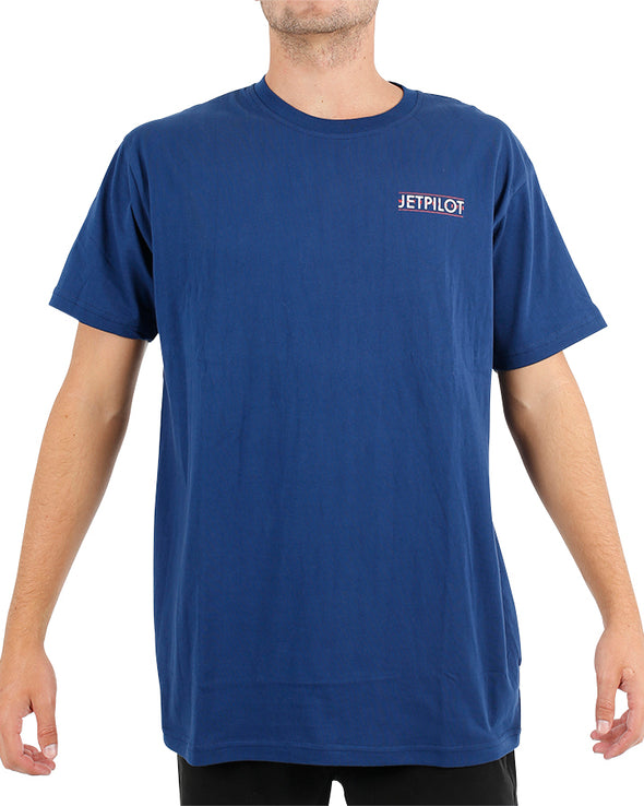 JETPILOT OUTBOARD MENS TEE NAVY