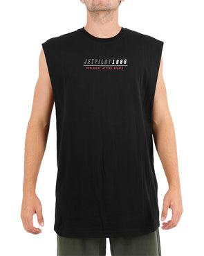JETPILOT STRATEGY MENS MUSCLE BLACK