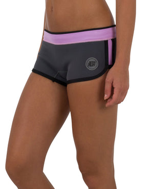 "JETPILOT JPCO 2.5"" LADIES NEO SHORT CHARCOAL/PINK"
