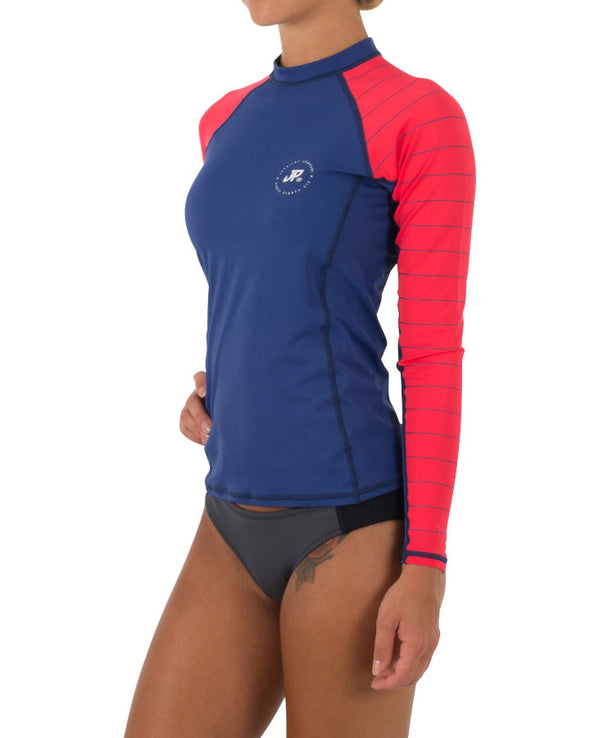 JETPILOT JPCO LADIES L/S RASHIE BLUE/RED