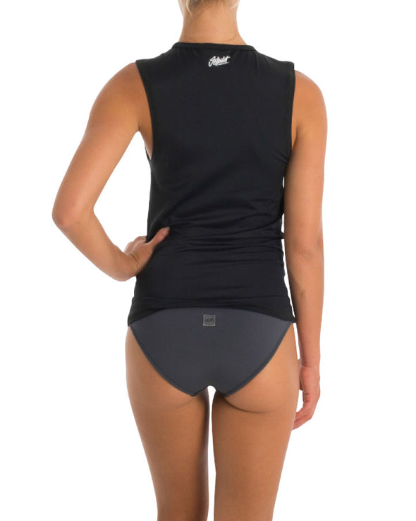 JETPILOT CALI LADIES RASHIE MUSCLE BLACK