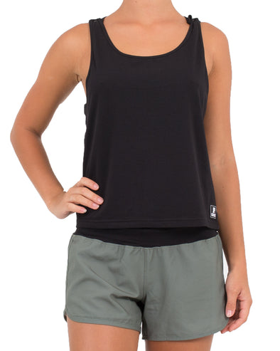 JETPILOT KICK ON LADIES TANK BLACK