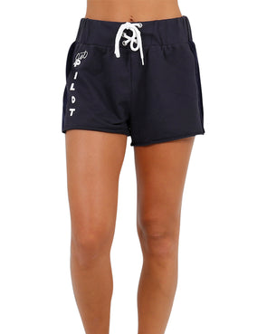 JETPILOT THROWBACK BEACH LADIES SHORT BLACK