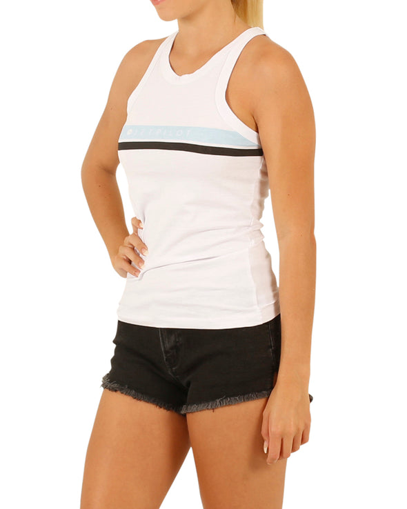 JETPILOT NEW CORP LADIES TANK WHITE