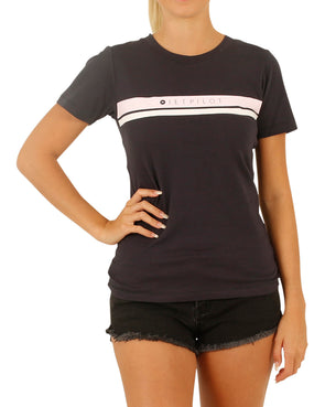 JETPILOT NEW CORP LADIES TEE BLACK