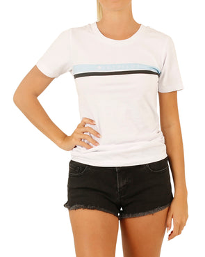 JETPILOT NEW CORP LADIES TEE WHITE