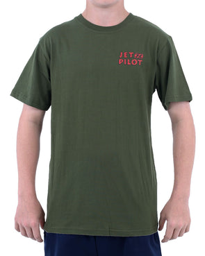 JETPILOT SHARK YOUTH TEE GREEN