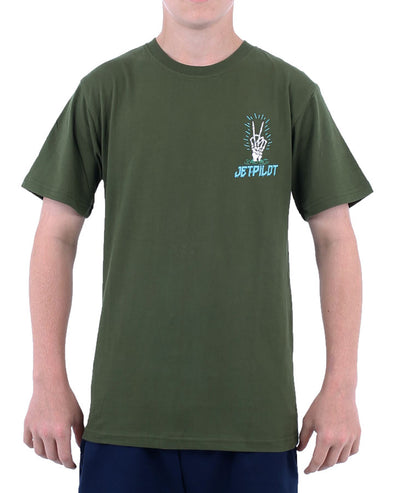 JETPILOT NUCLEAR YOUTH TEE GREEN