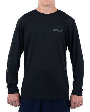 JETPILOT CORP L/S YOUTH HYDRO TEE BLACK