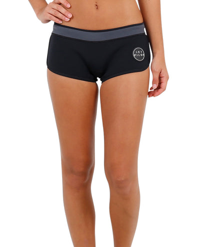 "JETPILOT LADIES NEWCORP LADIES 2.5"" NEO SHORT BLACK"