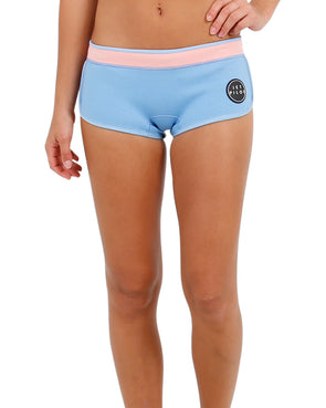 "JETPILOT LADIES NEWCORP LADIES 2.5"" NEO SHORT BLUE/PEACH"