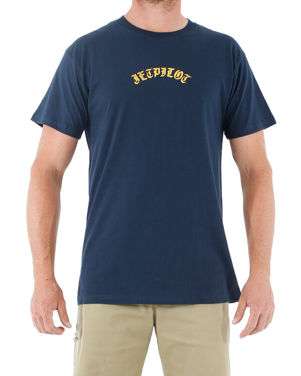 JETPILOT AFFILIATED MENS TEE NAVY