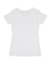 JETPILOT WARPED LADIES LOGO TEE WHITE