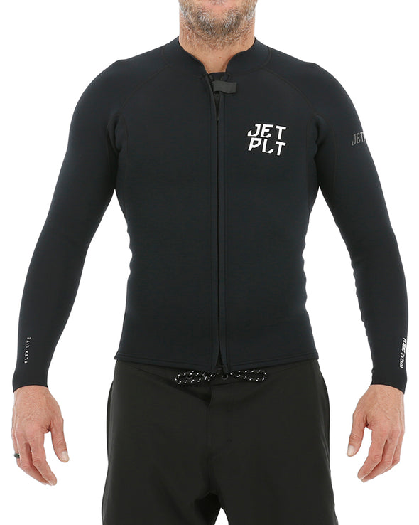 JETPILOT FLIGHT MENS 2x2 FZ LS JACKET BLACK