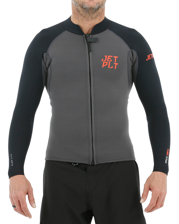 JETPILOT FLIGHT MENS 2x2 FZ LS JACKET CHARCOAL