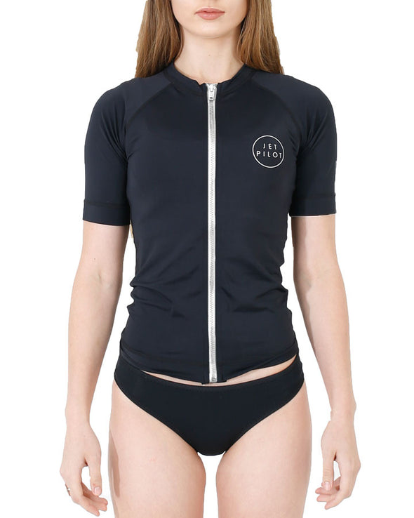 JETPILOT PRO SERIES LADIES S/S RASHIE BLACK