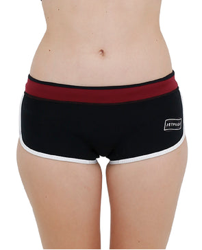 "JETPILOT CORP 2.5"" LADIES NEO SHORT BLACK"