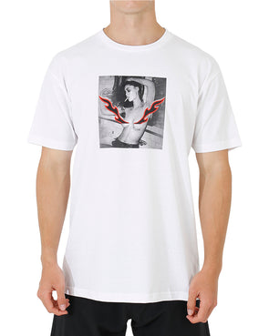 JETPILOT NAKED FLAME MENS TEE WHITE