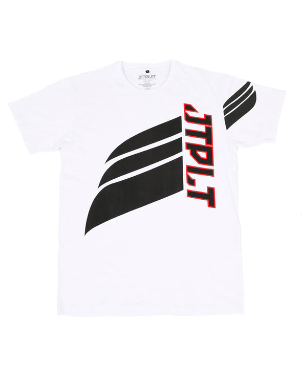 JETPILOT SIDE SWIPE MENS TEE WHITE