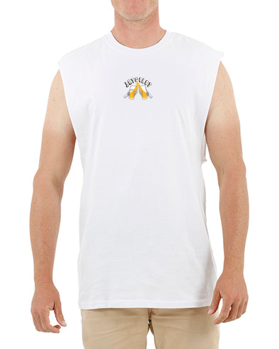 JETPILOT SAVE WATER MENS MUSCLE WHITE