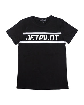 JETPILOT TAPED UP YOUTH TEE BLACK/WHITE