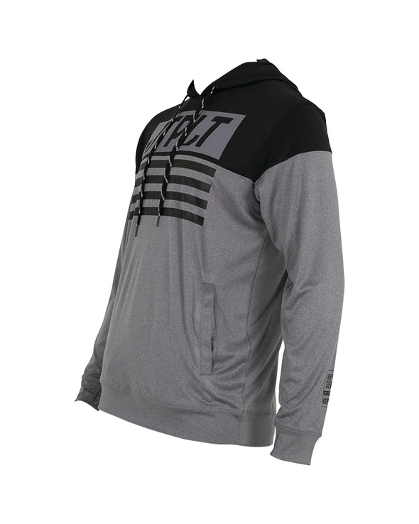 JETPILOT MENS MATRIX L/S PO HOODED RASHIE GREY