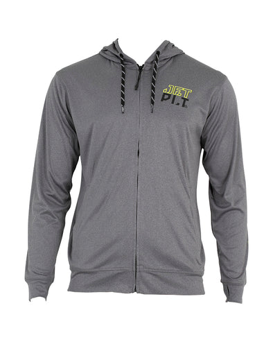 JETPILOT MENS HYPED L/S ZF HOODED RASHIE GREY